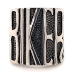 "Polished ""BIKER"" Stainless Steel Ring"
