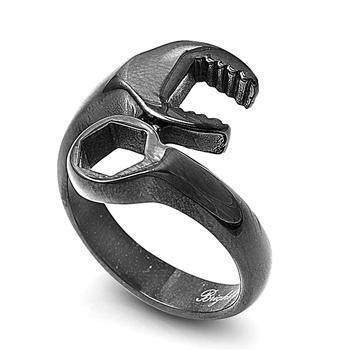 Stainless Steel Black Wrench Ring