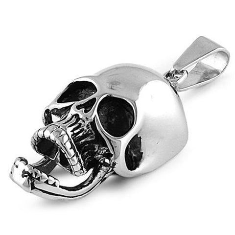 Stainless Steel Classic Screaming Skull Pendant