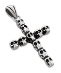 Stainless Steel Skulls Cross Pendant