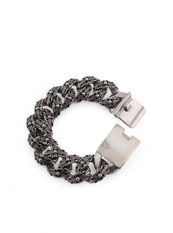 Men's Fancy Cross Bracelet