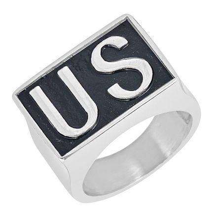 "United States ""US"" Insignia Stainless Steel Ring"