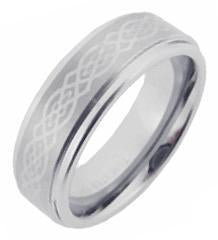Men's Tungsten Carbide Executive Celtic Knott s 7mm Wedding Band Ring