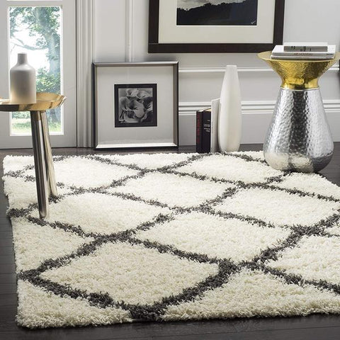 Gray and white shag rug cool rug style