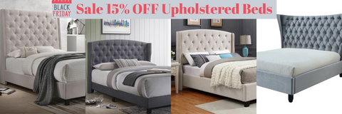 Upholstered bed black friday sale