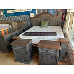 Rustic Farmhouse Style Bedroom Sets Solid Wood Hand Made In Stock Furnishings4less