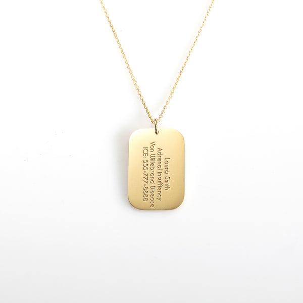 Dog Tag Medical Necklace