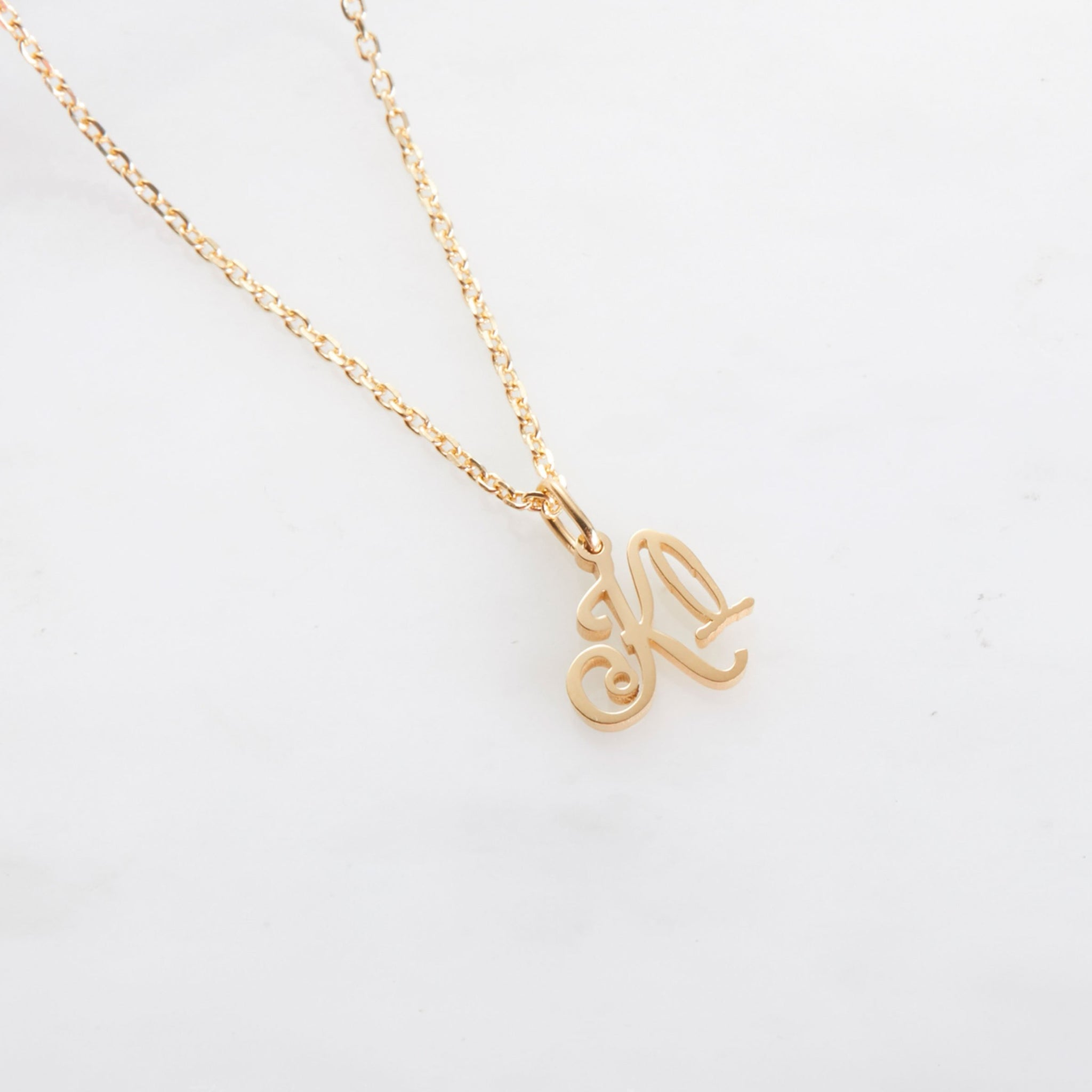 Name Initial Stethoscope Necklace