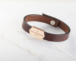 Engraved Leather Bracelet
