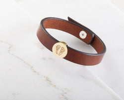 Baby FootPrint Leather Bracelet