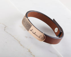 Handwriting Leather Bracelet