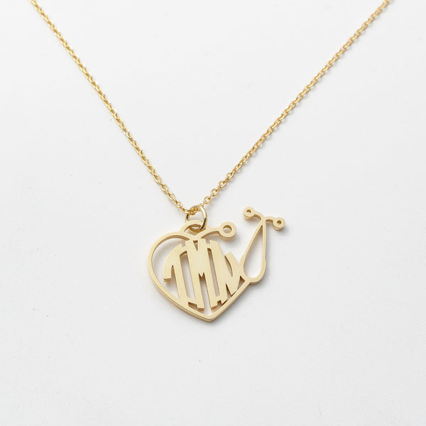 Monogram Stethoscope Necklace