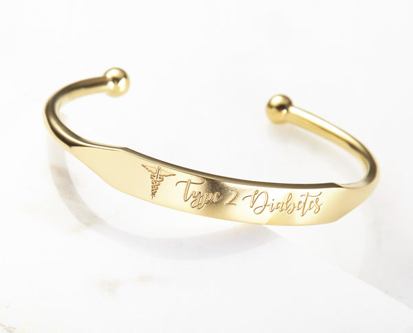 Personalized Medical ID Cuff Bracelet