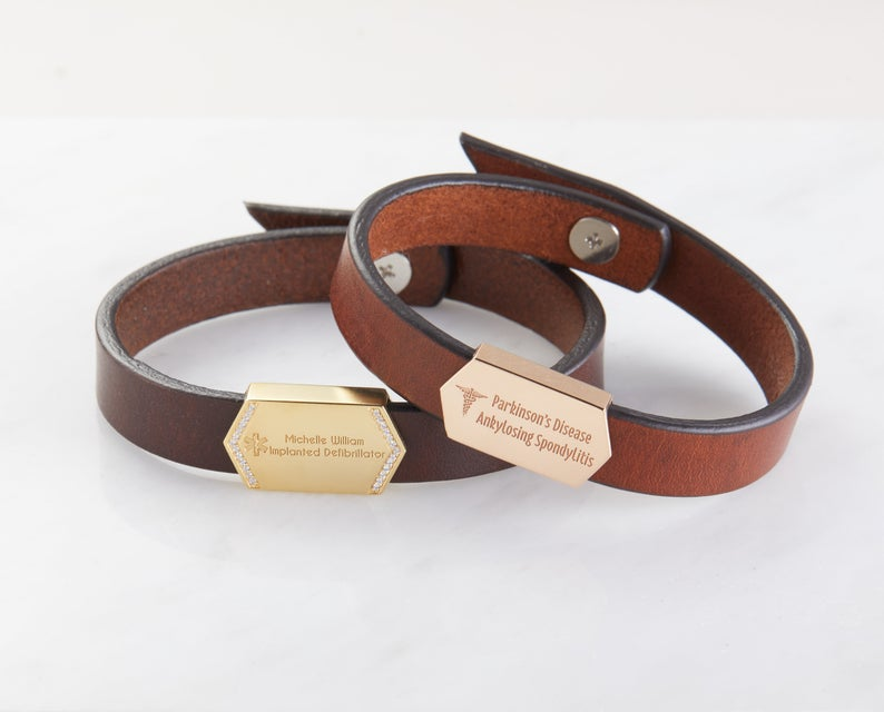 Allergy Leather Bracelet