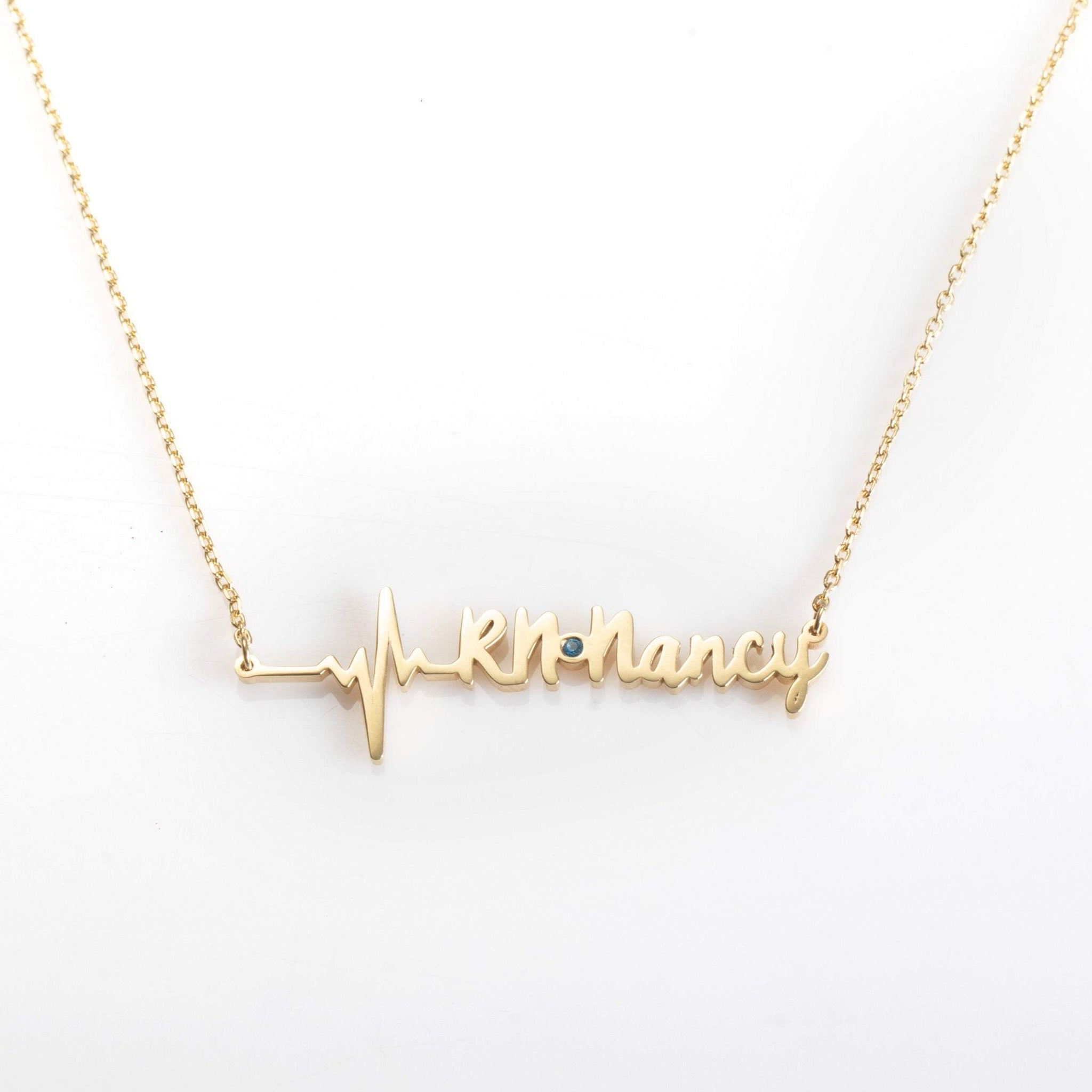 Personalized Heartbeat Necklace