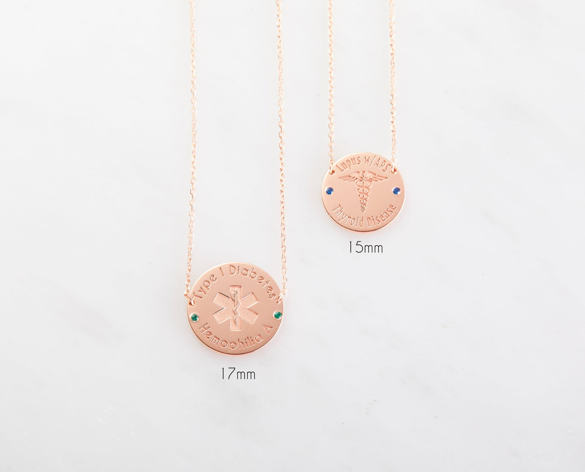 Dainty Medical Alert Necklace