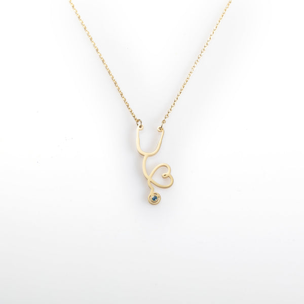Vertical Stethoscope Necklace
