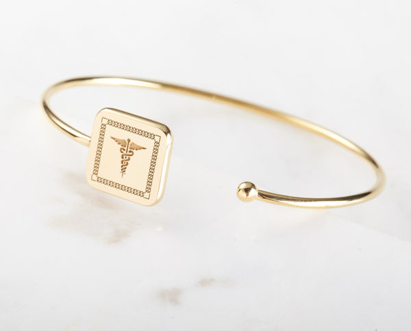 Personalized Allergy Cuff Bracelet