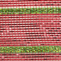 "10""X10yd Deluxe Metallic Stripe, Wide Red/Thin Laser Lime"