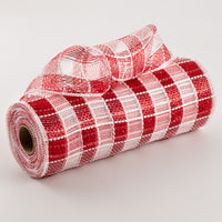 "10""X10yd Metallic Check Mesh, Red/White ***ARRIVING FEB 7TH***"