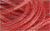 8mmx30yd Deco Flex Tubing, Red w/Silver Foil ***ARRIVING JAN 2021***