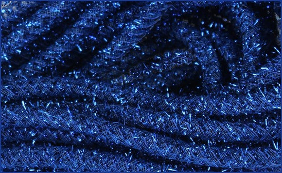 8mmx20yd Tinsel Tubing, Royal Blue