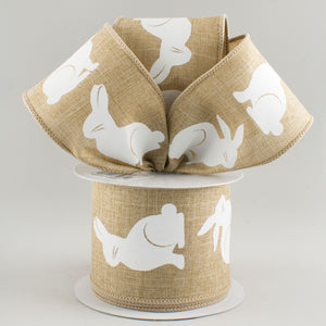 "2.5""X10yd Bunny Bold Print On Royal, Light Beige/White ***OUT FOR THE SEASON***"