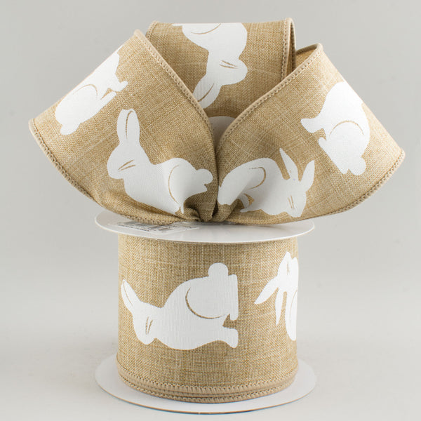"2.5""X10yd Bunny Bold Print On Royal, Light Beige/White ***ARRIVING JAN 2021***"