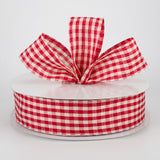 "1.5""x50yd Primitive Gingham Check, Red/Beige ***ARRIVING MAY 2021***"