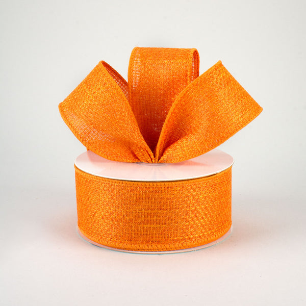 "1.5""X10yd Cross Royal Burlap, Orange ***ARRIVING SPRING 2021***"