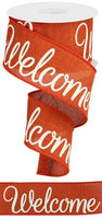 "2.5""X10YD Welcome On Royal, Rust/Cream"