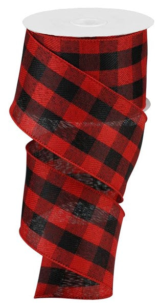 "2.5""X50yd Woven Check, Red/Black S7"