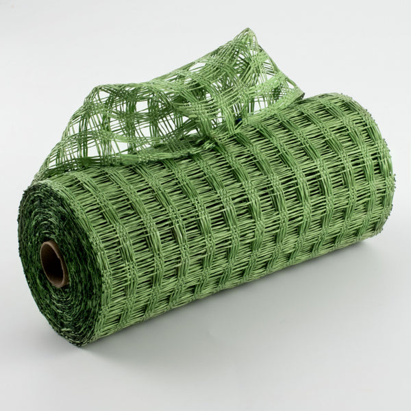 "10""X10yd Poly Burlap Check Mesh, Lime Green"