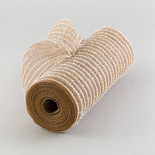 "10.5""X10YD Cotton Drift/PP Mesh, Natural/White ***ARRIVING APRIL 2021***"