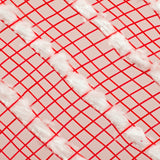 "10.5""X10yd Snowdrift/Poly Mesh, Red/White  F"