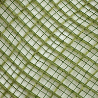 "10.5""x10yd Faux Jute Check Fabric Mesh, Moss Green"