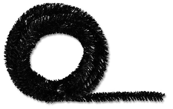 25' Tinsel Roping, 2 ply, Metallic Black O