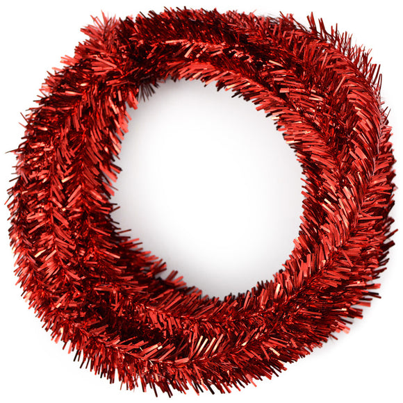 25' Tinsel Roping, 2 ply, Metallic Red O