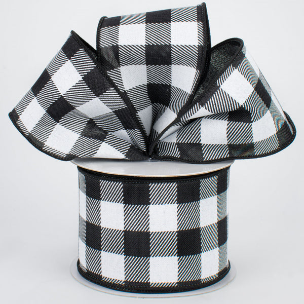 "2.5""X10yd Striped Check On Royal, Black/White S21 ***ARRIVING MARCH 2021***"
