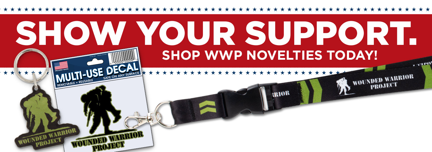 Show your support. Shop WWP novelties today.