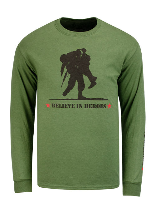 WWP Believe in Heroes Long Sleeve Tee