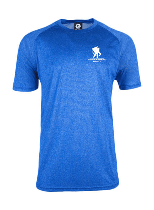 WWP Performance Logo Tee - Royal Melange