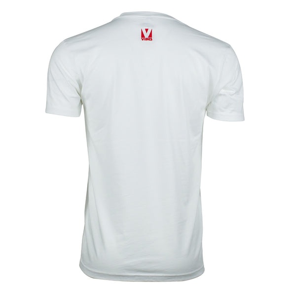 """Vibes"" White Short Sleeve Shirt"