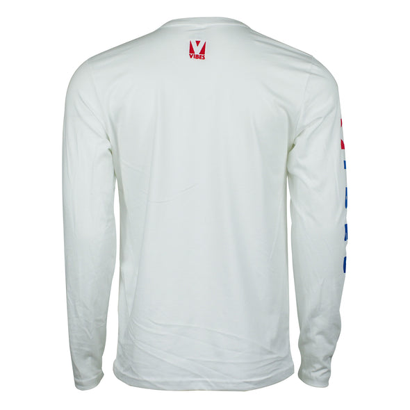 """Vibes"" White Long Sleeve Shirt"