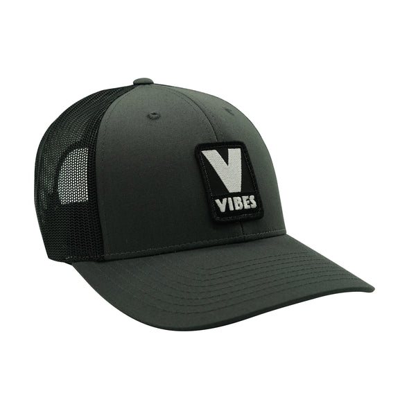 """Vibes"" Grey & Black Trucker Hat"