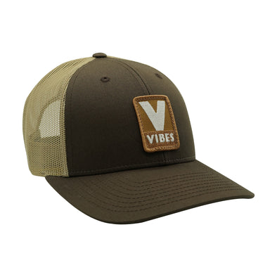 """Vibes"" Brown & Tan Trucker Hat"