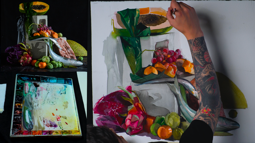 "Nick Runge | ""Portrait and Still Life Watercolor Package"""