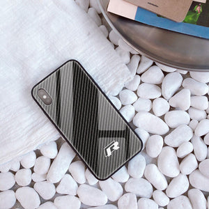 VW R Tempered Glass Carbon Fiber Case