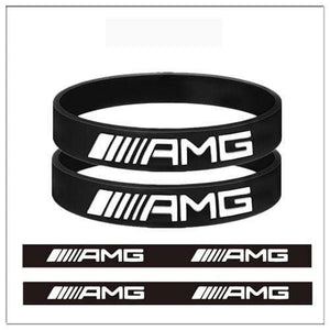 Broshop Bracelet Black AMG [2 Pieces] Mercedes AMG Bracelet