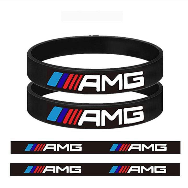 Broshop Bracelet Black AMGs [2 Pieces] Mercedes AMG Bracelet